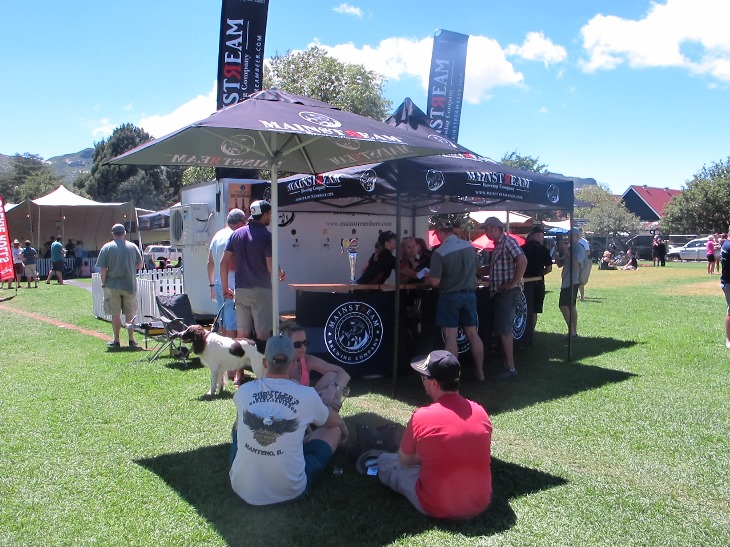 Clever drinkers camp out near the Mainstream Brewing stand