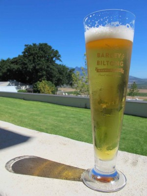 A cold glass of Reinheitsgebot-compliant pilsner