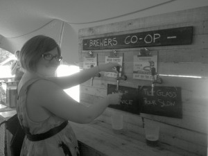Taking photos under a red tent is tricky. Black and white filters are your friend...