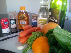 carrot citrus salad