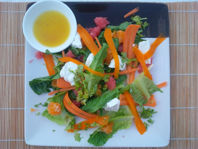 salad with beer dressing