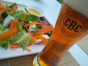 salad with beer