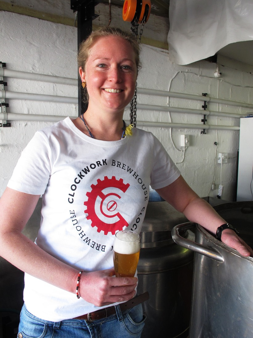Do not ask this woman if she knows anything about fermentation. You will embarrass yourself. (Megan Gemmell from Clockwork Brewhouse)