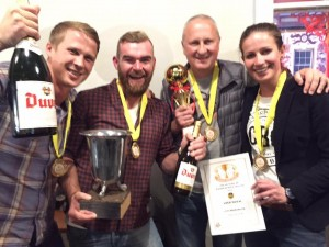 CBC took a whopping four golds - the whole team came out to celebrate. (Image courtesy of Cape Brewing Co)