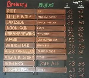 Simple is best - the cool beer menu at Beerworks in Kalk Bay